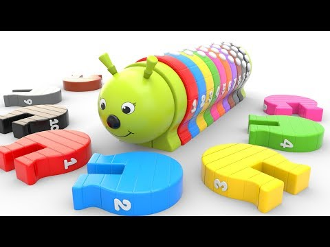 (Ver Filmes) Learn colors and numbers for children with wooden caterpillar toys kids toddler educational videos