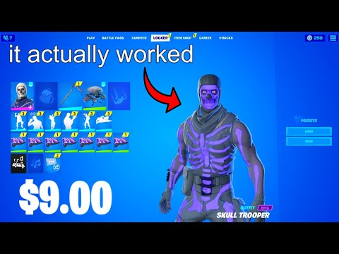 (VFHD Online) Buying a stacked fortnite account for $9... (og skins)