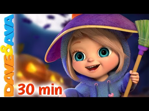 (New) 👻 five little kittens and more halloween songs | nursery rhymes by dave and ava 👻