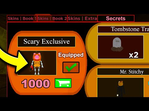 (HD) I unlocked the scary exclusive skin in roblox piggy 2..