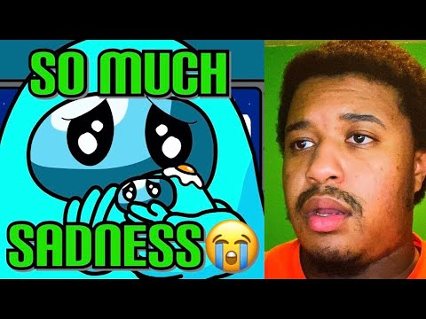 (New) Every day among us life animation 2# light blue by hornstromp reaction!