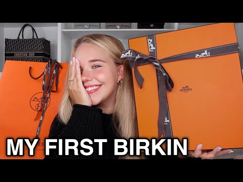 (HD) Unboxing my first hermes birkin !!! 🍊 | my ultimate unicorn e holy grail bag * i cant believe it*