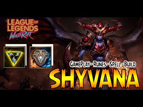 (New) Shyvana wild rift guide build tank killer - build - rune -skill - gameplay | league of legends