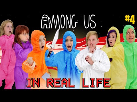 (HD) Among us in real life (impostor alliance iq 9,999,999) funhouse family