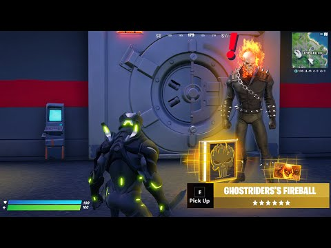 (New) New ghost rider boss e mythic weapons update in fortnite