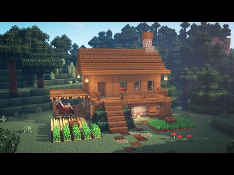 (New) Minecraft | how to build a simple survival house | starter house