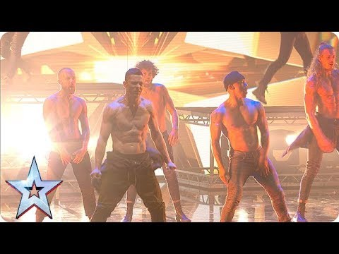 (New) Things hot up with channing tatum and the sizzling stars of magic mike!   the final   bgt 2018