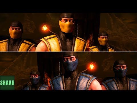 (New) Mortal kombat xl - all characters performs triborgs intro (all skins)