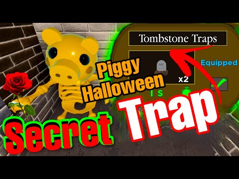(New) How to unlock the secret *tombstone trap* piggy book 2 🎃 halloween event🎃 all bone locations! roblox