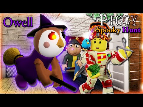 (New) Roblox piggy spooky hunt part 2!! new owell skin!! oh well...