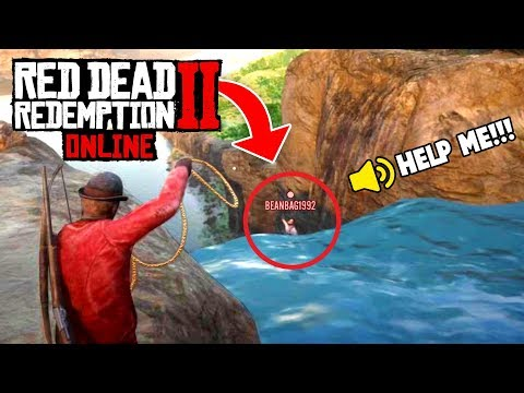 (VFHD Online) Saving online player from death! (red dead 2 fails e funny moments #5)