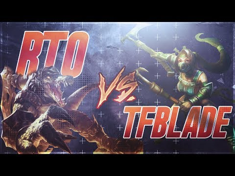(New) Rtos renekton vs. tfblades akali (full game vod with commentary - patch 8.4)