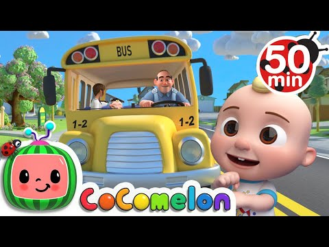 (New) Wheels on the bus (school version) + more nursery rhymes e kids songs - cocomelon