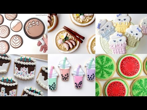 (New) Cute cookie food! my favorite cookie decorating videos - compilation by sweetambs