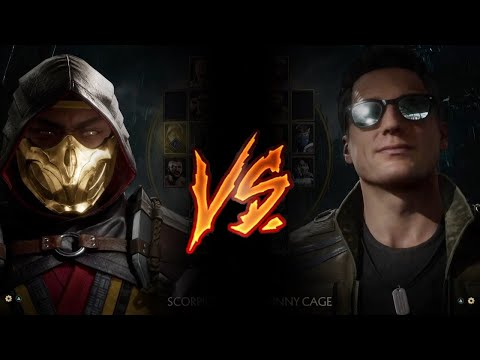 (New) Mortal kombat 11 - scorpion vs. johnny cage (very hard)