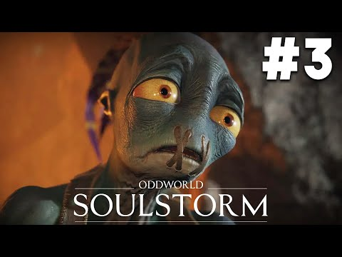 (New) Oddworld soulstorm ps5 gameplay walkthrough part 3 - the funicular (level 4)