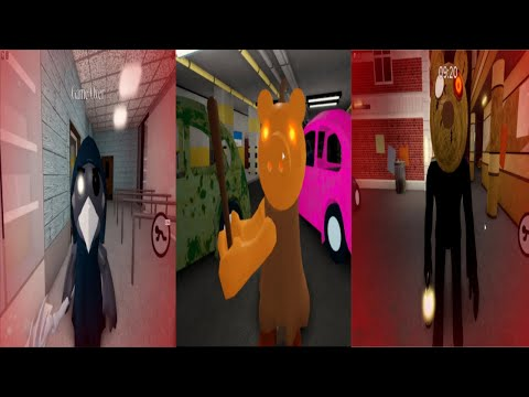 (New) All new characters jumpscare - roblox piggy spooky hunt update