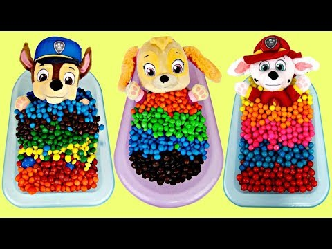 (Ver Filmes) Compilation of learning colors with paw patrol chase, skye, marshall e gumball, candy baths