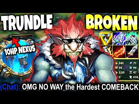 (New) This trundle build will carry even the hardest games 10 hp nexus comeback 🔥 lol trundle s11 gameplay