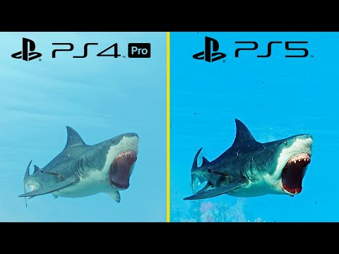 (New) Maneater ps5 vs ps4 pro graphics comparison + performance test (ps5 optimized)
