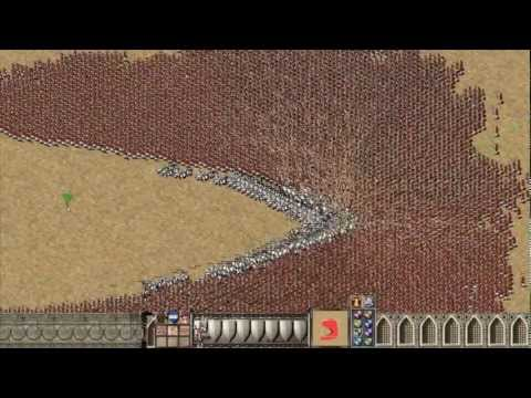 (New) Stronghold crusader: 1000 knights vs 9000 arabian archers
