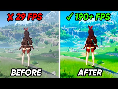 (New) 🔧 how to boost fps, fix lag and fps drops in genshin impact ✅ genshin impact low end pc lag fix 2020