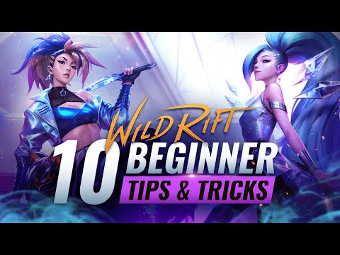 (New) 10 beginner tips e tricks you must know - wild rift (lol mobile)