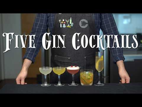 (HD) The 5 easiest gin cocktails to make at home
