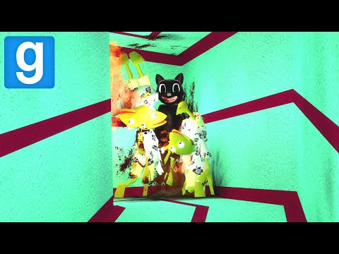 (New) Cartoon cat in crazy maze! - garrys mod sandbox