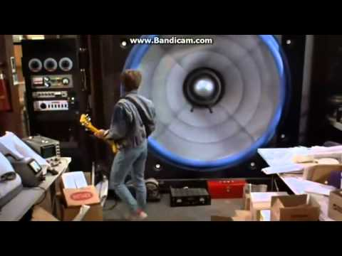 (HD) Back to the future story 1 screen of giant speaker