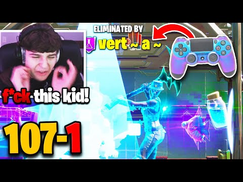 (VFHD Online) Clix *loses* 107-0 box fight record to this cracked controller player! (fortnite)