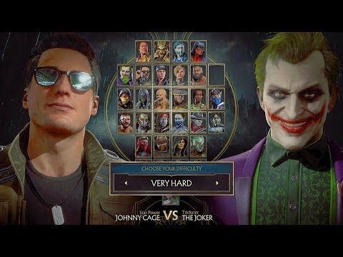 (New) Mortal kombat 11 joker vs johnny cage gameplay very hard difficulty mk11