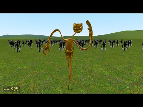 (New) I became golden cartoon cat!! garrys mod [cartoon cat vs trevor henderson]