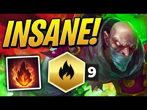 (New) 9 inferno singed is so broken! | teamfight tactics set 2 | tft | league of legends auto chess