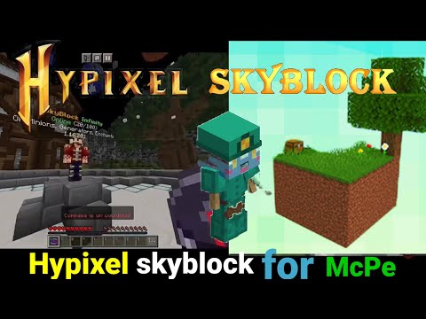 (New) New hypixel server for minecraft pe। how to play hypixel in mcpe। hindi।2021। #hypixelforminecraftpe