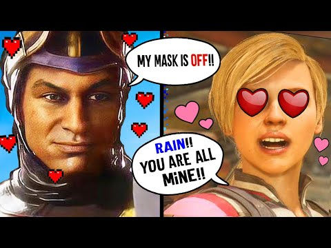 (New) Mk11 - rain flirty intros e roast intros vs female kombatants - mortal kombat 11 rain intros