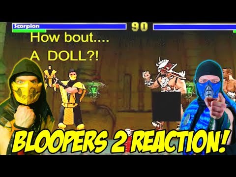 (New) Scorpion e sub-zero react - mortal kombat bloopers 2 | mk parody!