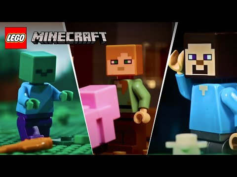 (HD) Lego stop motion animation compilation - lego minecraft - funny video 2017, 2018, 2019