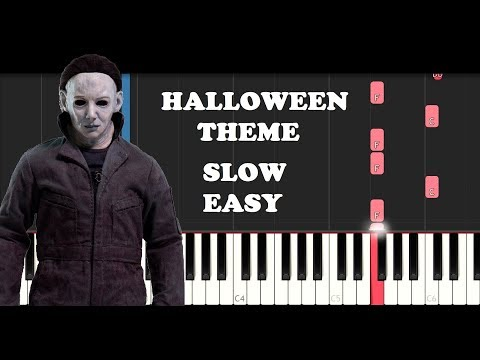 (Ver Filmes) Halloween theme - michael myers (slow easy piano tutorial)