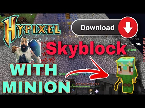 (New) Hypixel skyblock download on minecraft pe | hindi | technical gamer x