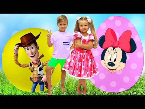 (Ver Filmes) Diana and new toy story with giant surprise eggs