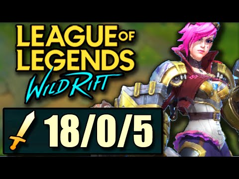 (VFHD Online) Vi wild rift guide!! how to actually jungle as vi and get 18 kills | challenger gameplay