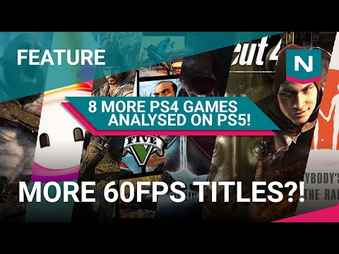 (New) Ps4 pro vs ps5 - 8 more backward compatible games tested! frame rates analysed