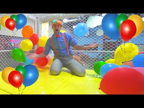 (Ver Filmes) Blippi at the indoor playground to learn colors | educational videos for toddlers