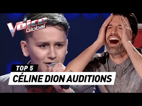 (New) Incredible céline dion blind auditions in the voice kids