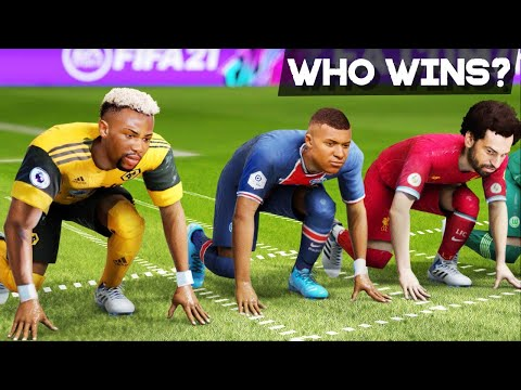 (New) Fifa 21 pace speed test | who is the fastest player in the game?