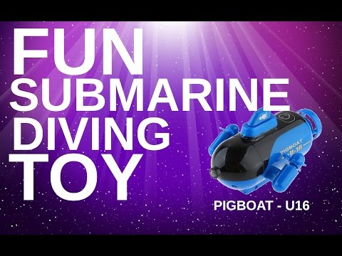(HD) Remote controlled (rc) submarine toy - u-16 pig boat