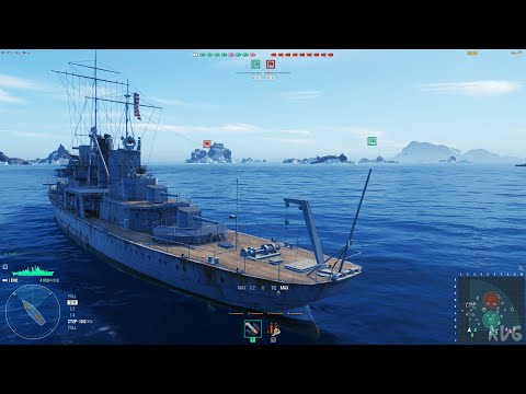 (New) World of warships (2021) - gameplay (pc uhd) [4k60fps]