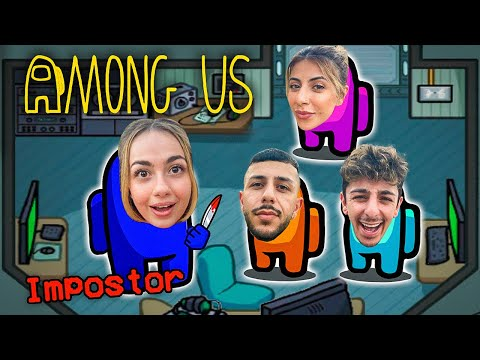 (New) Among us but in real life!! (imposter iq 999)