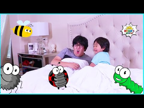 (New) Ryan plays bugs in bed and more 1 hour fun games for kids!